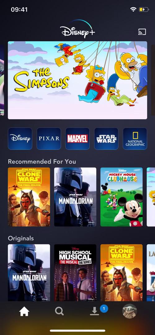 General browsing on Disney+ video screenshot