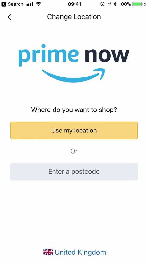 Buying something on Prime Now video screenshot
