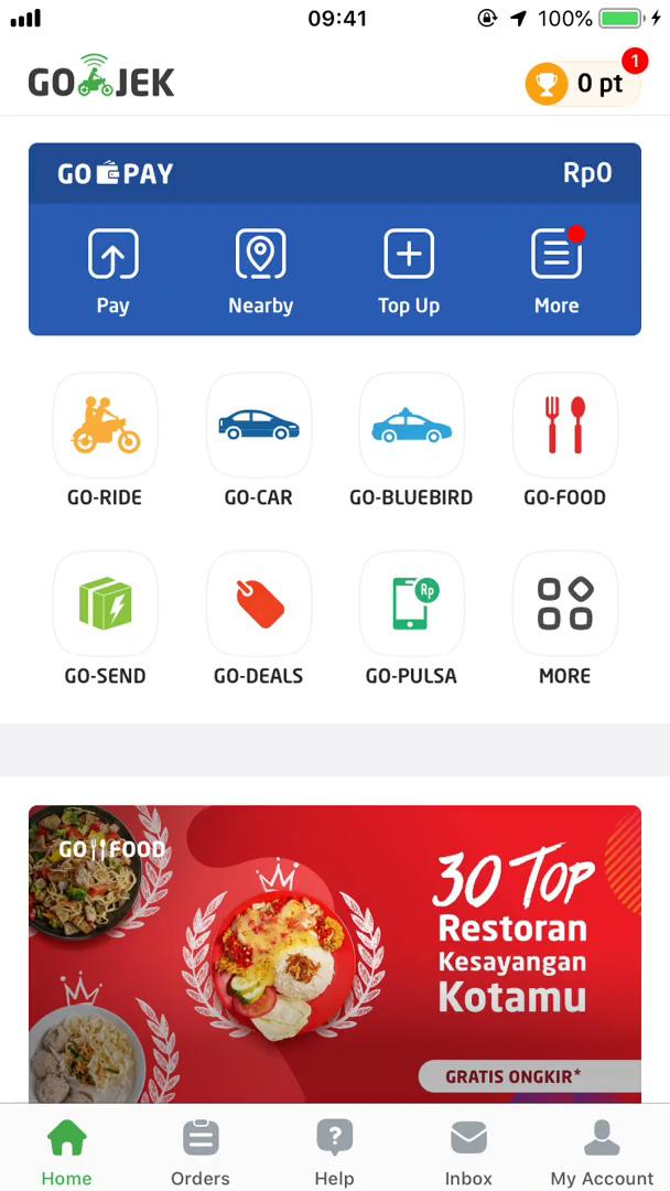Booking transport on Go-Jek video screenshot