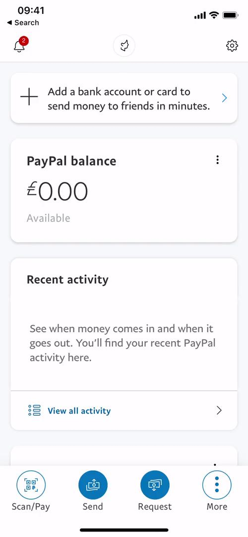 Adding payment details on PayPal video screenshot