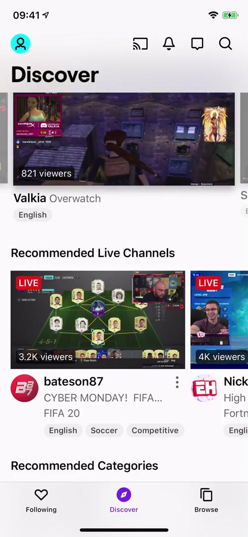 General browsing on Twitch video screenshot