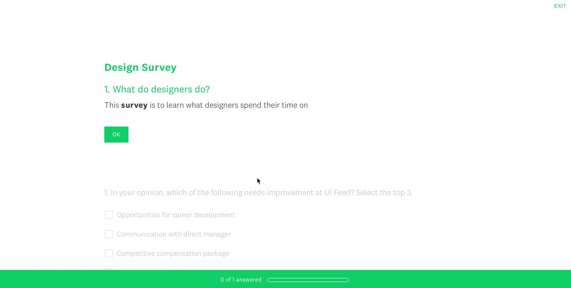 Filling in a form on SurveyMonkey video screenshot