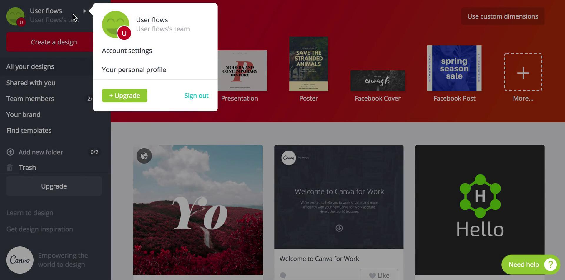 Deactivating your account on Canva video screenshot
