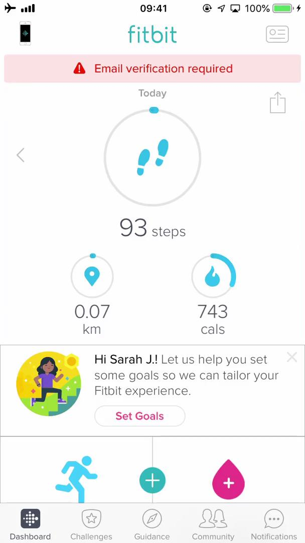 Updating your email on Fitbit video screenshot