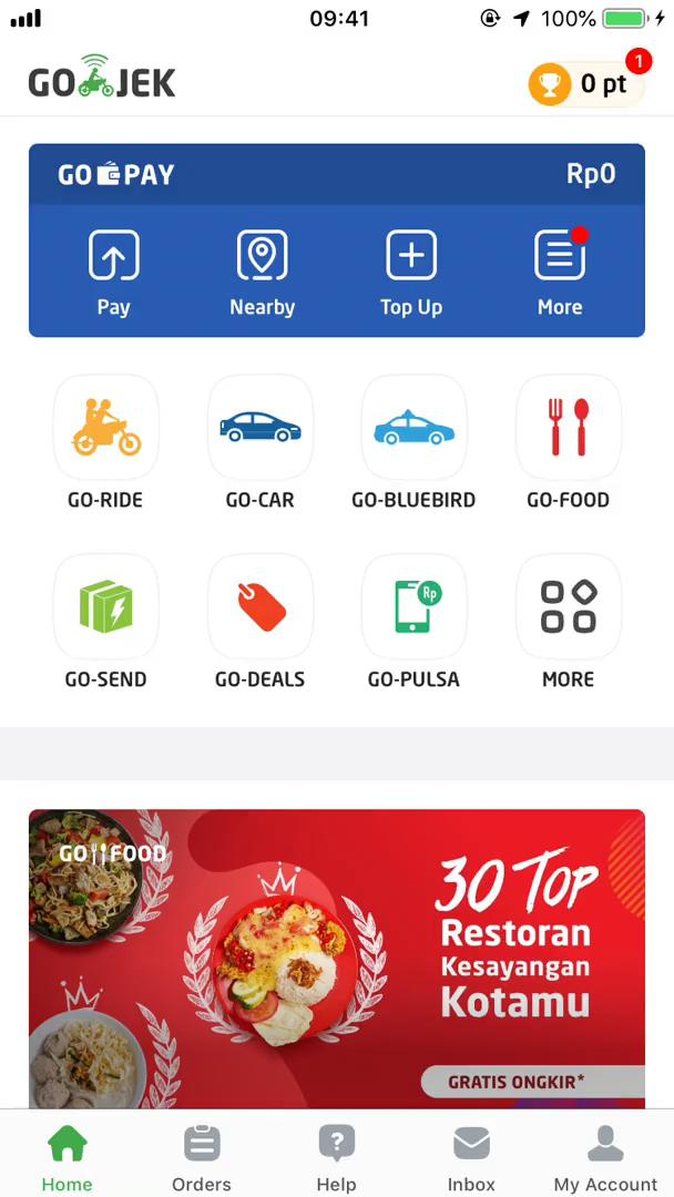 Customization settings on Go-Jek video screenshot