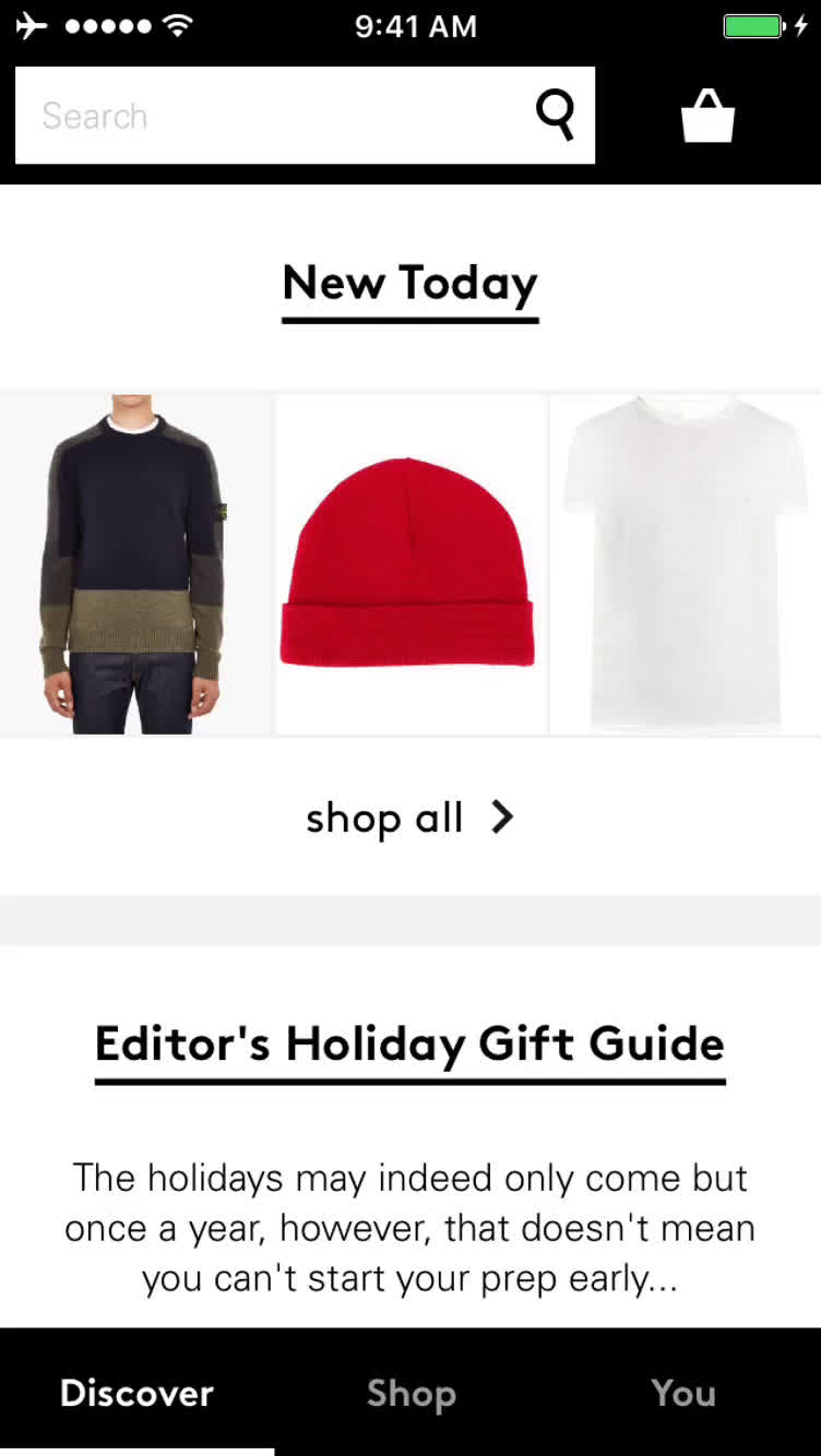 Buying something on Lyst video screenshot