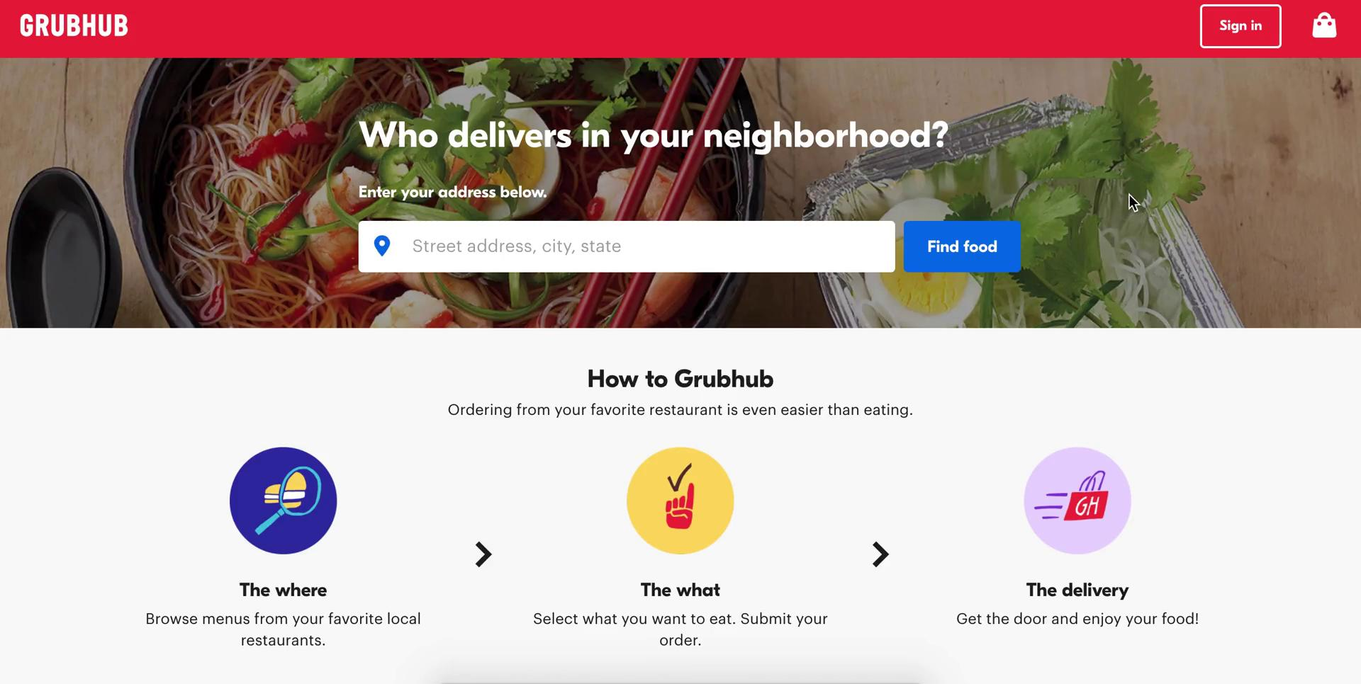 Driver signup on Grubhub video screenshot